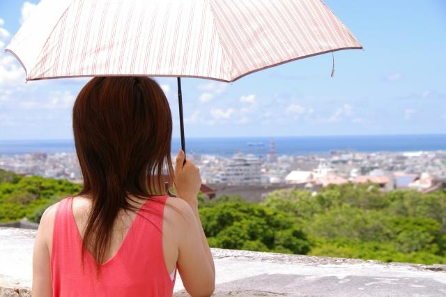日傘や帽子